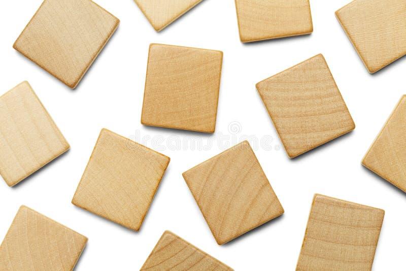 Разбросанные квадраты Scrable стоковое фото rf