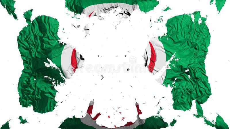 Разбросанный флаг OIC иллюстрация штока
