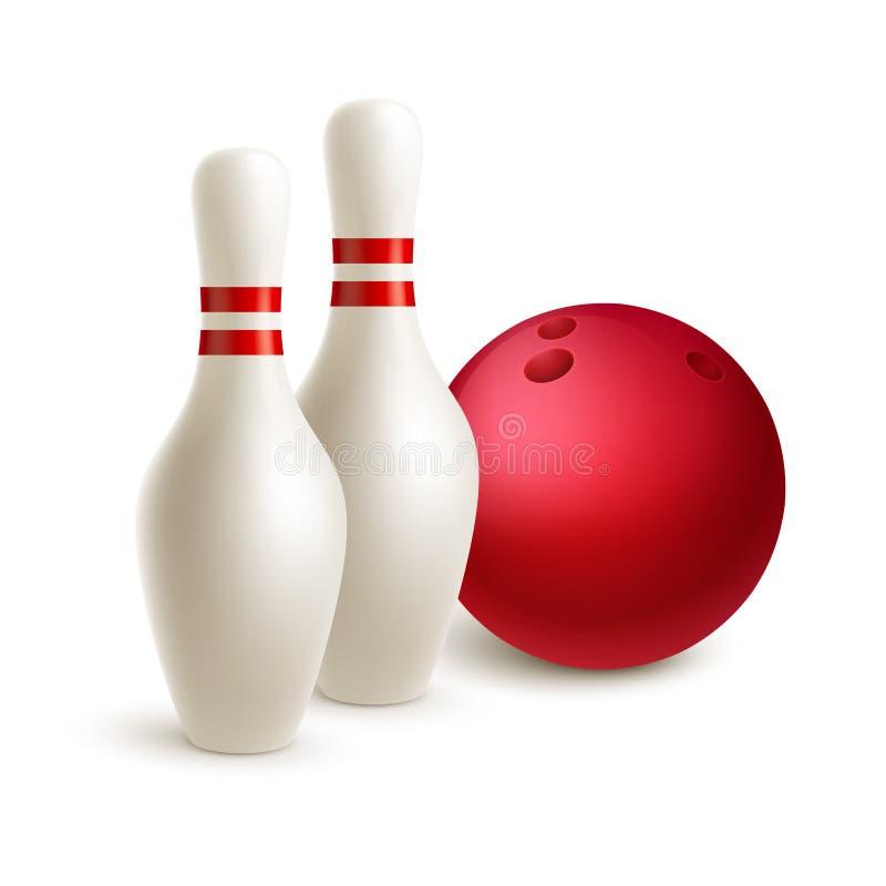 Разбросанный шарик skittle и боулинга вектор иллюстрация вектора