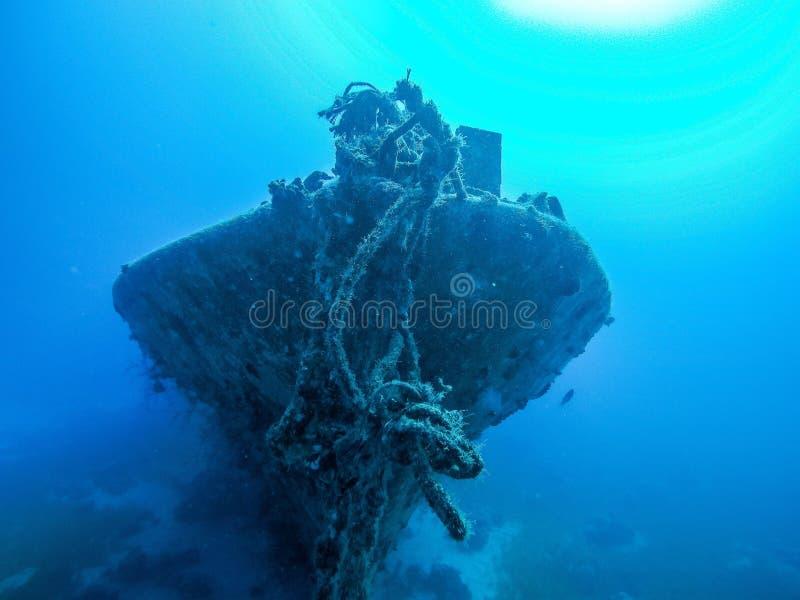 Развалина на глубине стоковое фото rf