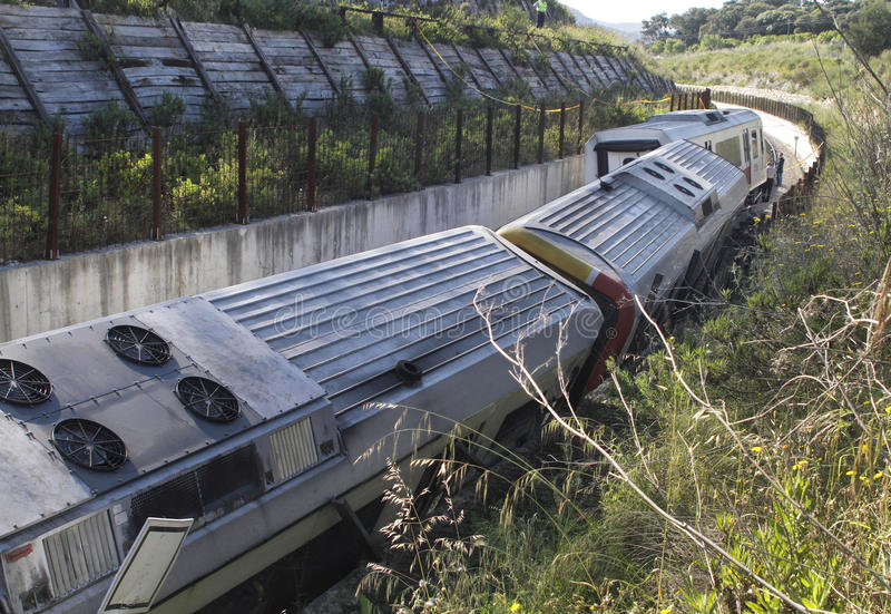 Развалина 007 крушения поезда стоковая фотография