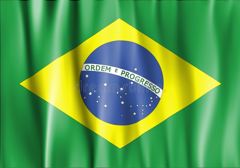 развевали флаг Бразилии, котор иллюстрация вектора