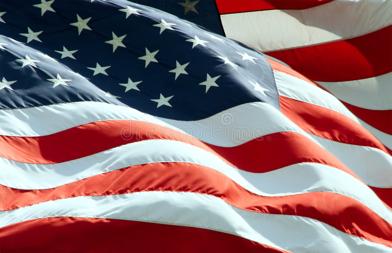 развевать американского флага стоковая фотография