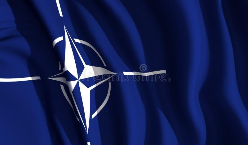 развевать НАТО иллюстрация вектора