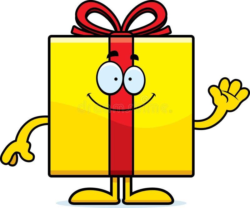 Развевать подарка на день рождения шаржа бесплатная иллюстрация