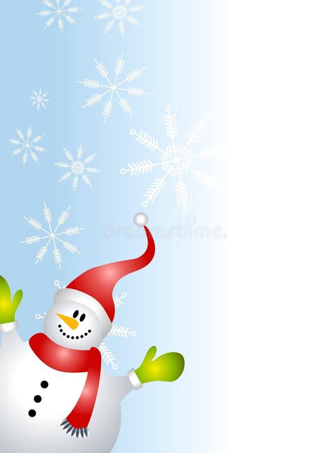 развевать снеговика граници иллюстрация вектора