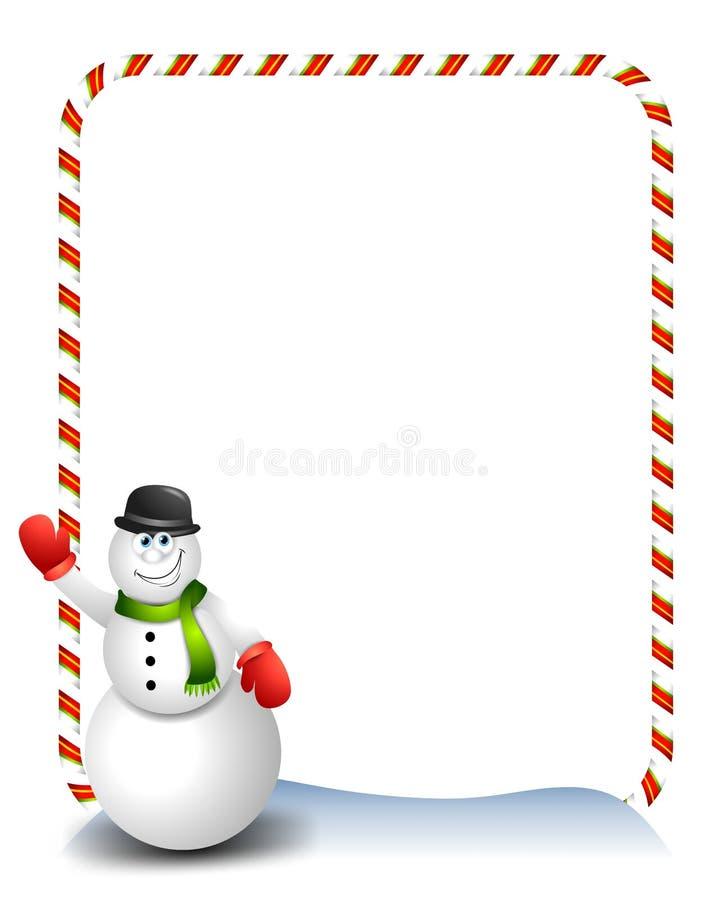 развевать снеговика 2 шаржей иллюстрация вектора