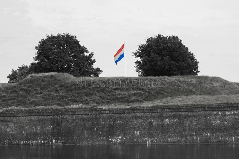 Развевать флага голландца стоковая фотография
