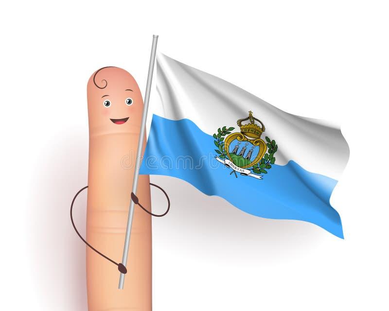 Развевать флага Сан-Марино бесплатная иллюстрация