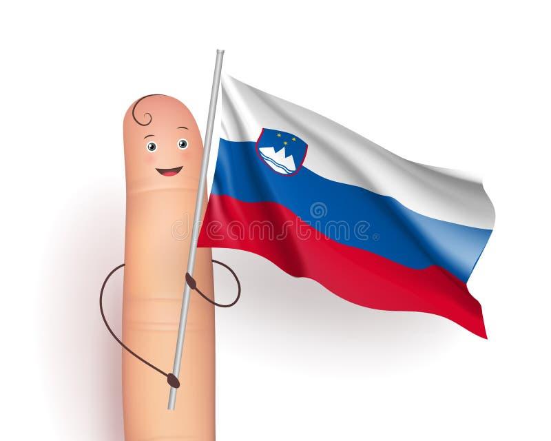 Развевать флага Словении иллюстрация штока