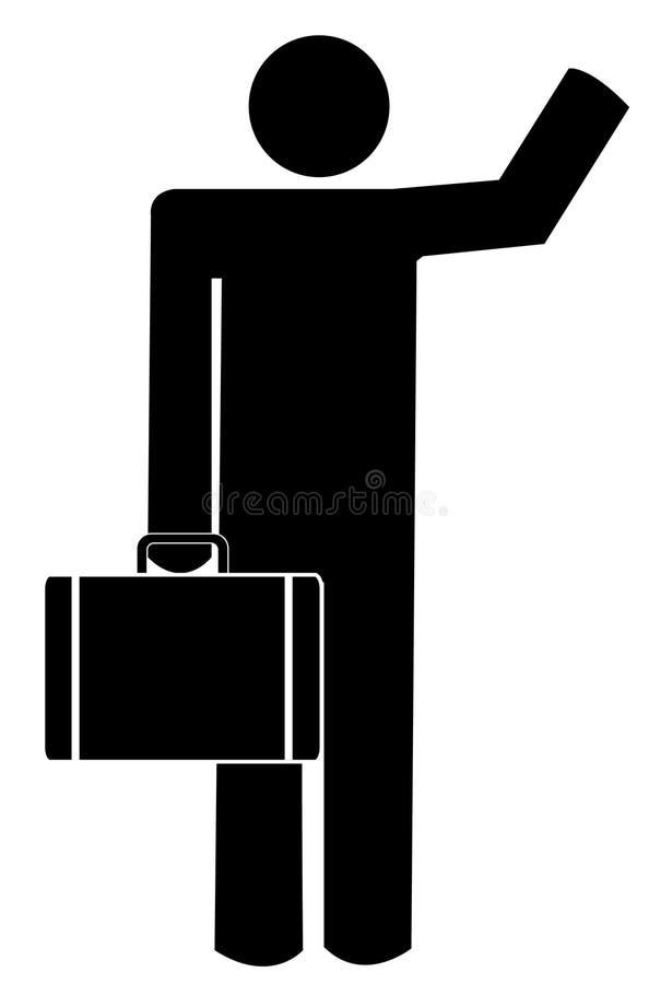 развевать человека портфеля иллюстрация штока