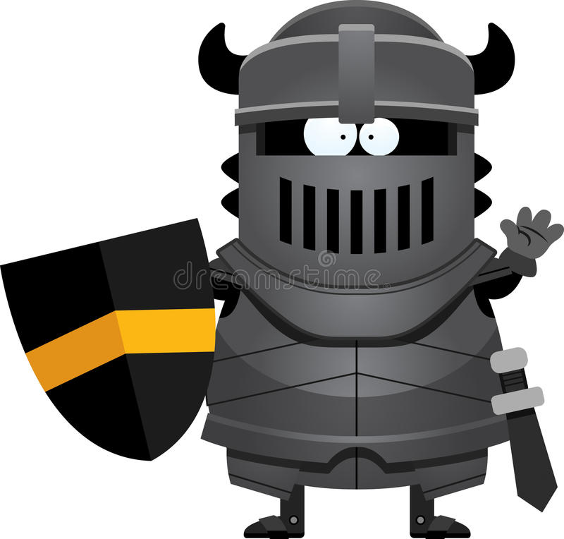 Развевать черного рыцаря шаржа бесплатная иллюстрация