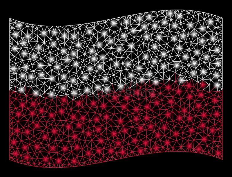 Развевая иллюстрация сетки флага Польши с внезапным влиянием бесплатная иллюстрация