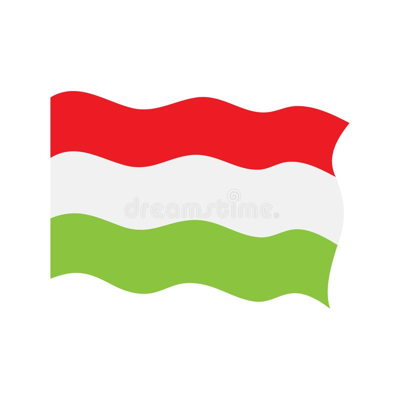 Развевая флаг Венгрии бесплатная иллюстрация