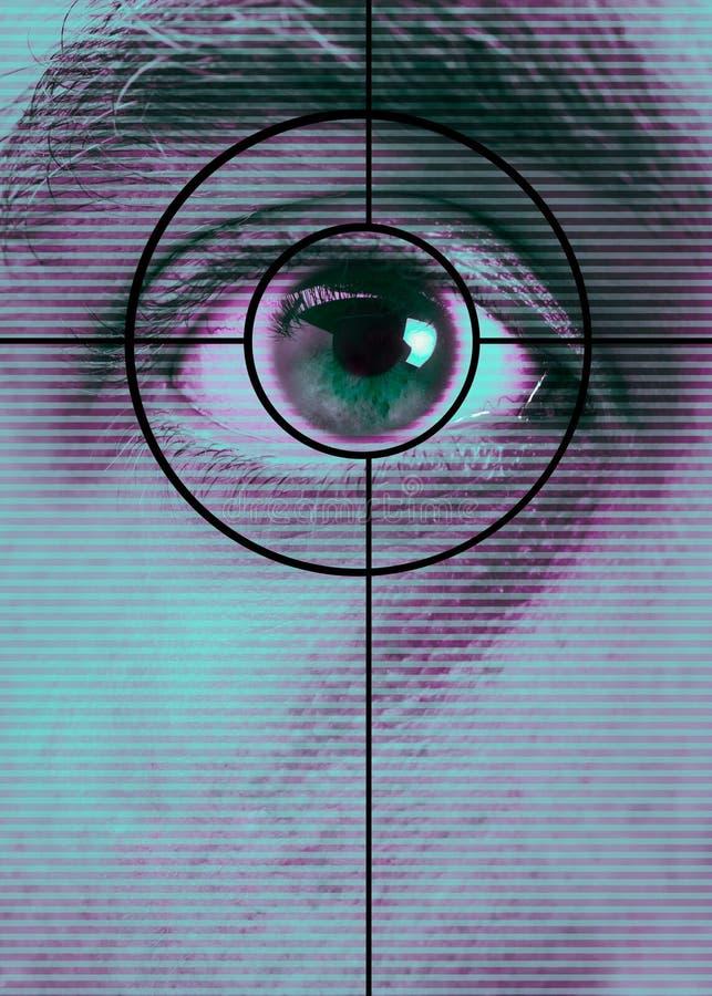 развертка глаза стоковые фото