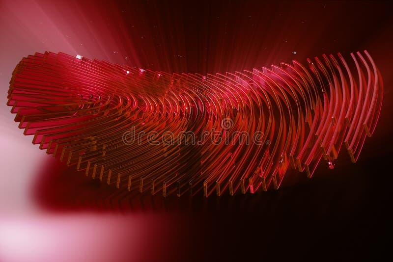 развертка отпечатка пальцев иллюстрации 3D обеспечивает доступ безопасностью с идентификацией биометрии Личные данные рубя концеп иллюстрация вектора