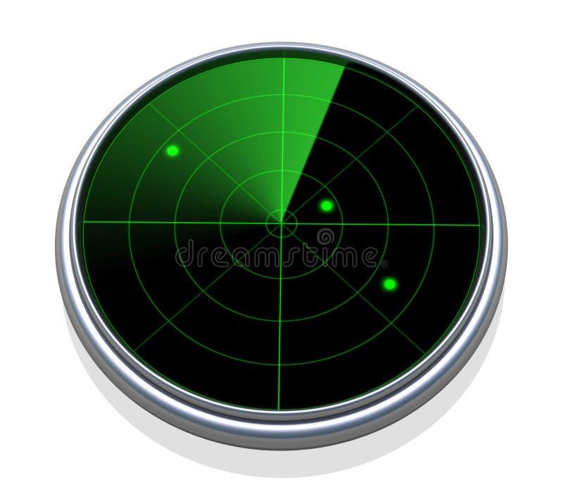 Развертка радиолокатора стоковое фото