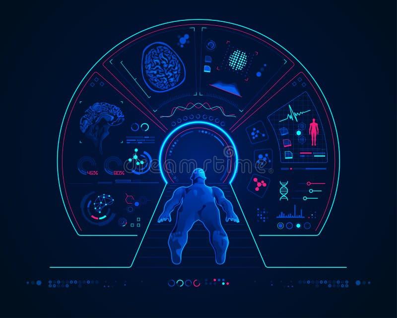 Развертка MRI иллюстрация штока