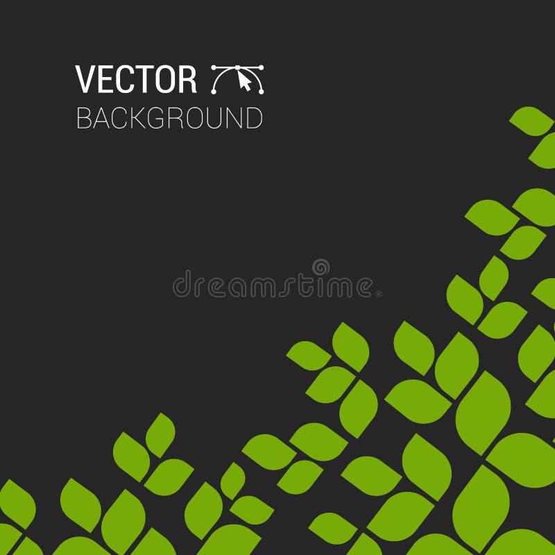 Разветвите с свежим зеленым eco леса дерева предпосылки зеленого растения листьев иллюстрация вектора