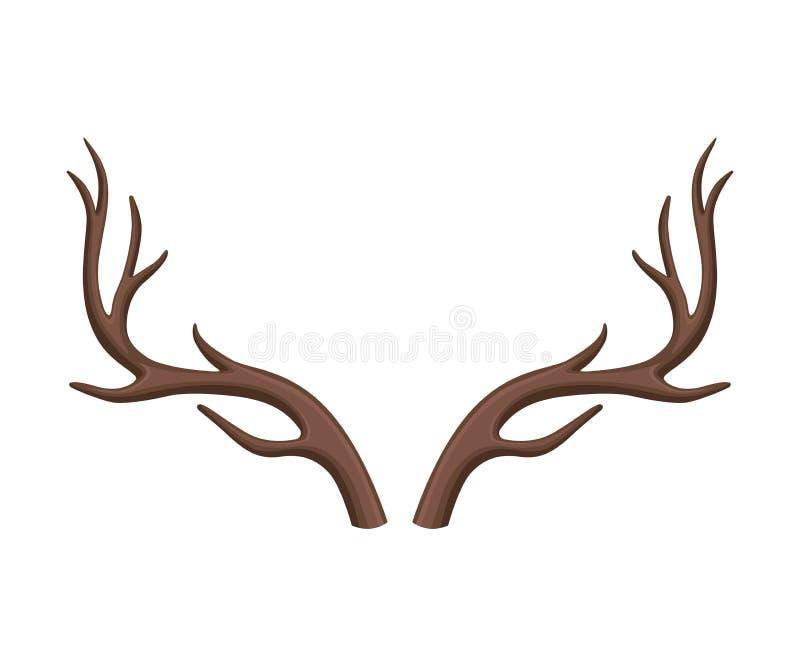 Разветвленные antlers оленя r иллюстрация штока