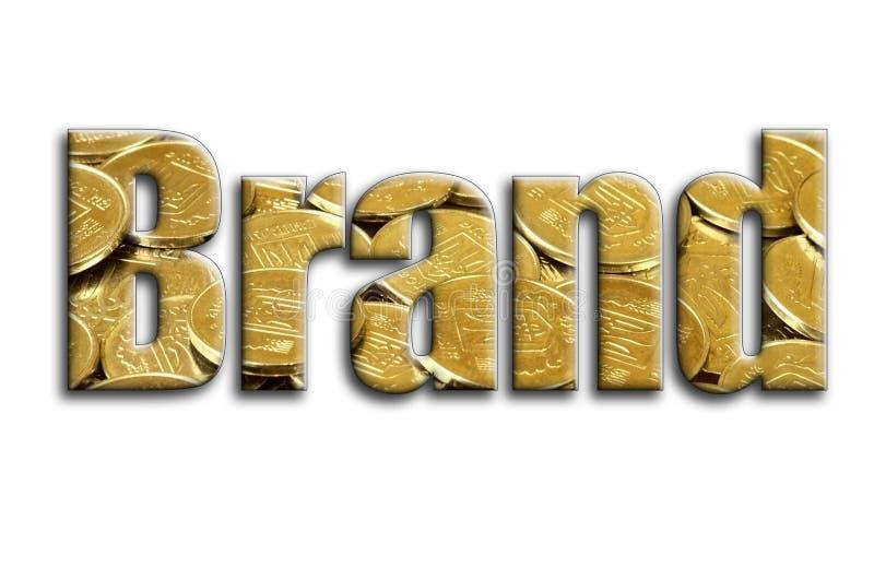 разветвляя Надпись имеет текстуру фотографии, которая показывает много украинские монетки иллюстрация штока