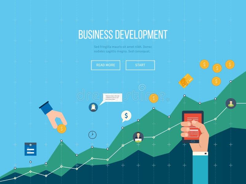 Развитие бизнеса Стратегия успешного развития биснеса бесплатная иллюстрация