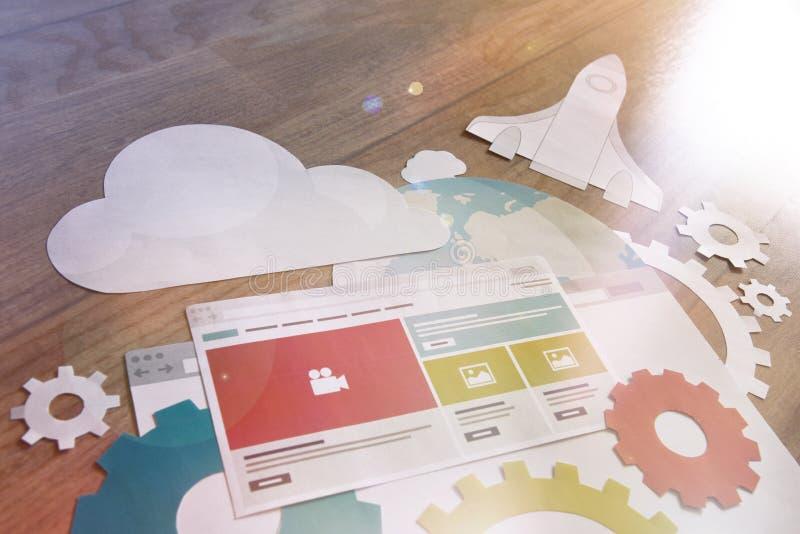 Развитие вебсайта и концепция SEO стоковое изображение