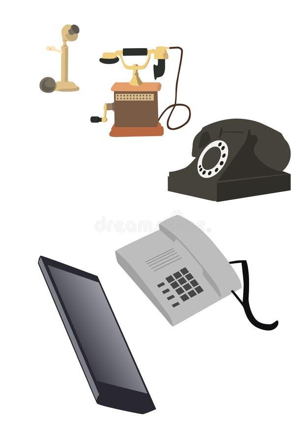 Развитие иллюстрации плоское телефона иллюстрация вектора