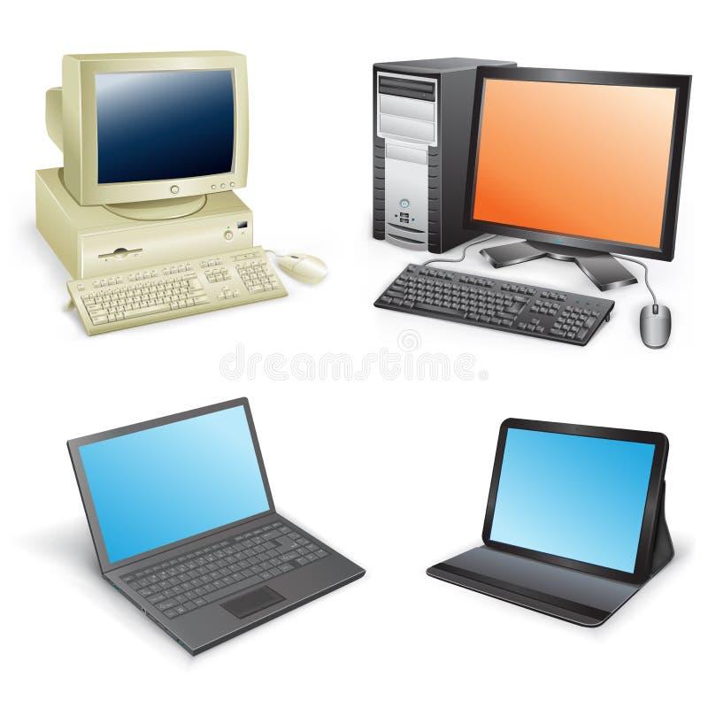 Развитие компьютера иллюстрация штока