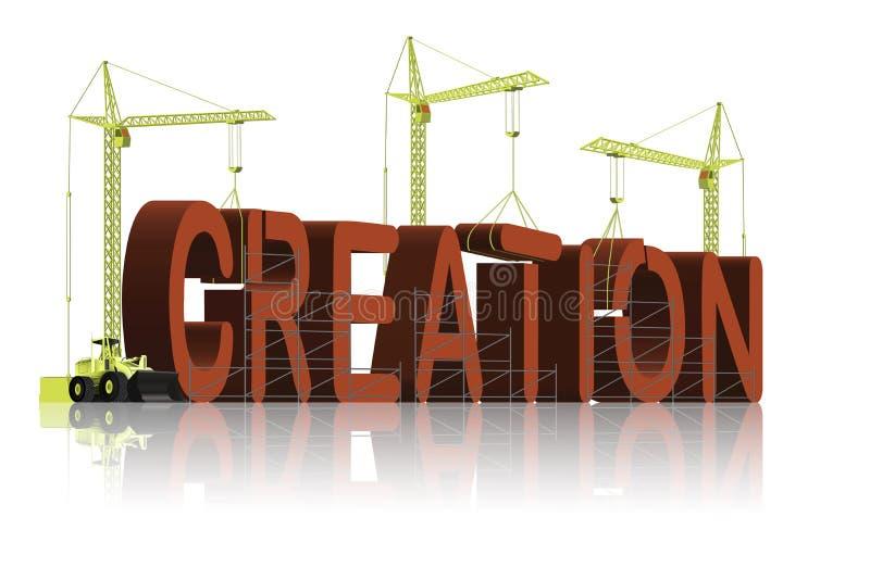 развитие конструкции творения верования толковейшее иллюстрация вектора