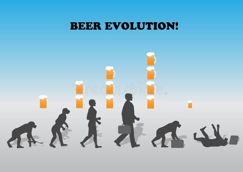 развитие пива иллюстрация вектора