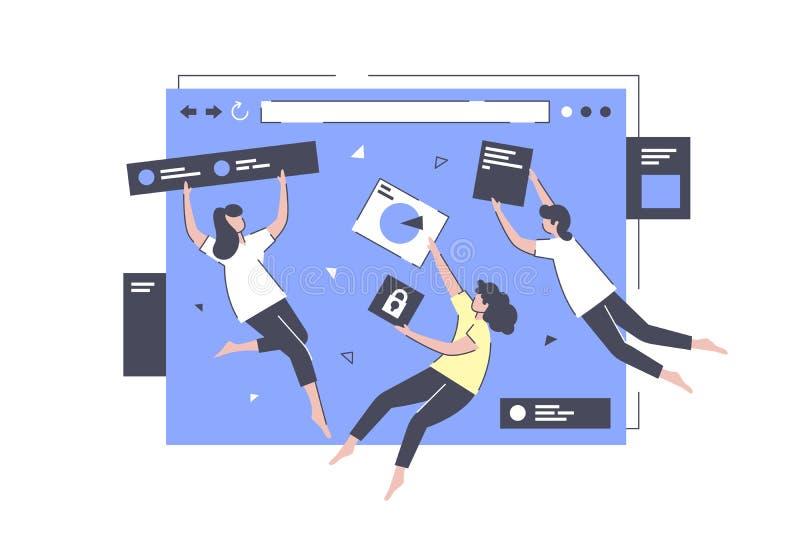 Развитие приложения в полете бесплатная иллюстрация