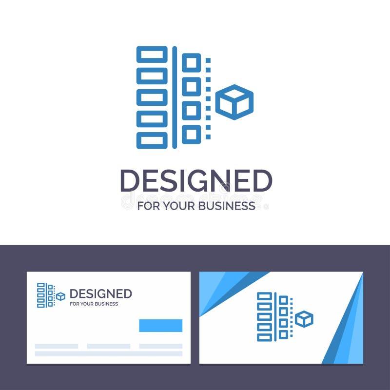 Развитие творческого шаблона визитной карточки и логотипа, участки, план, планирование, иллюстрация вектора продукта бесплатная иллюстрация