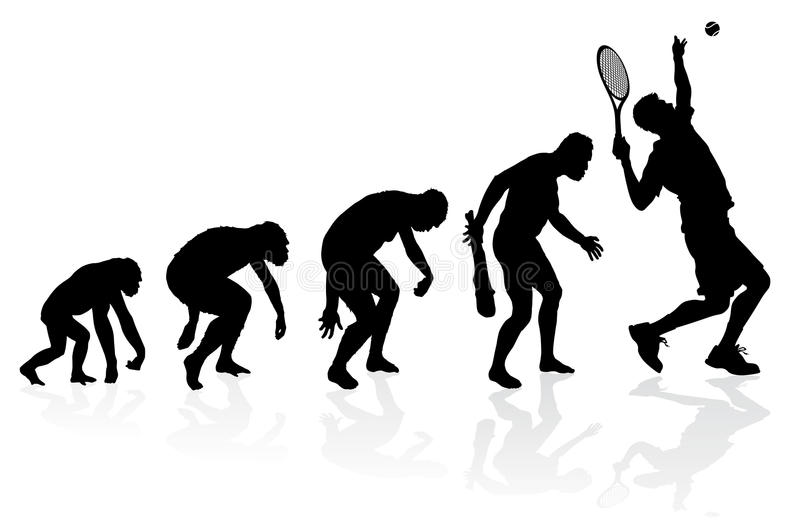 Развитие теннисиста иллюстрация вектора