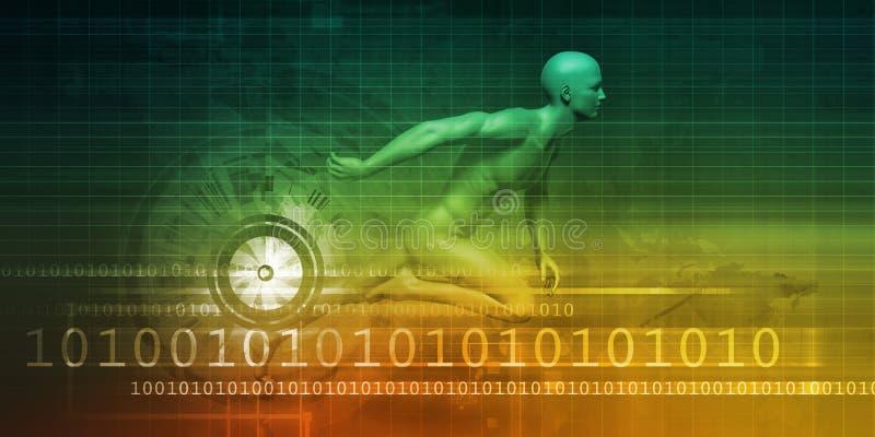 Развитие технологии иллюстрация вектора