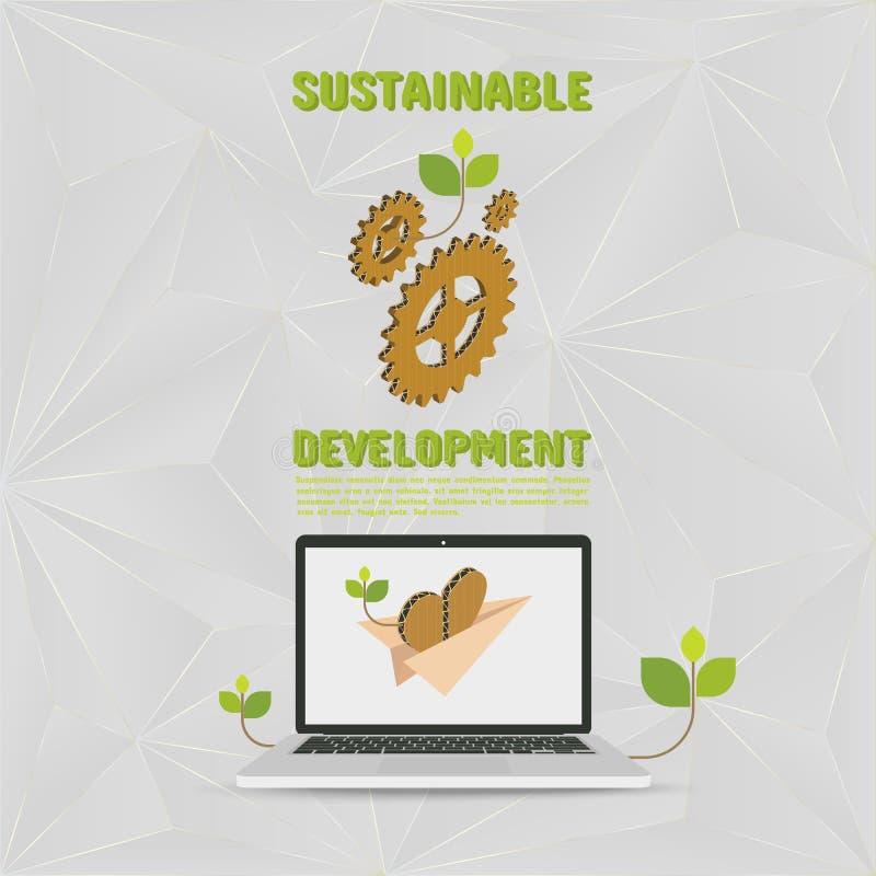 развитие устойчивое иллюстрация вектора