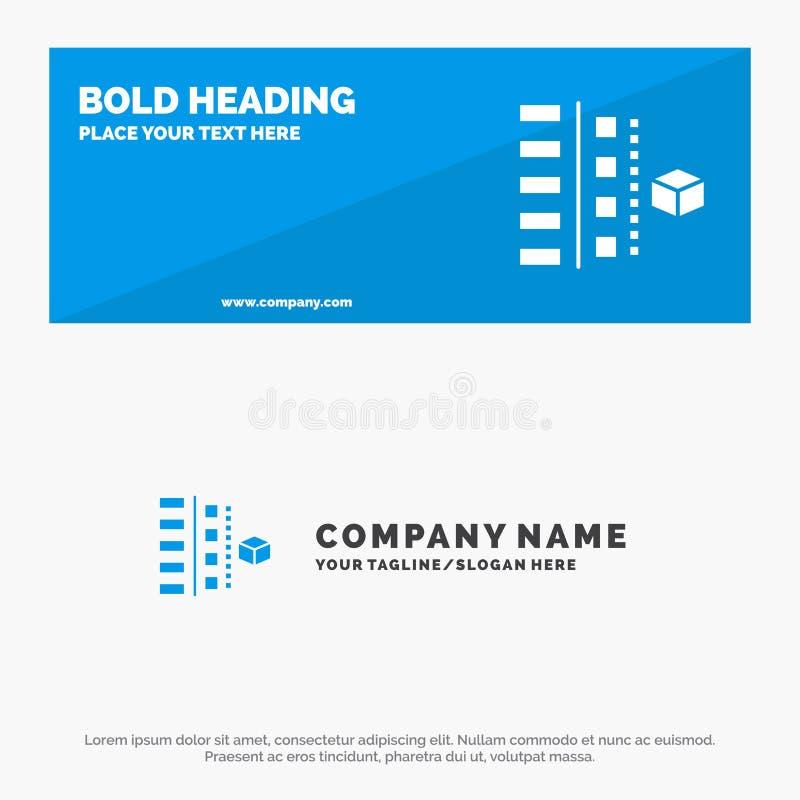 Развитие, участки, план, планирование, знамя вебсайта значка продукта твердые и шаблон логотипа дела иллюстрация вектора