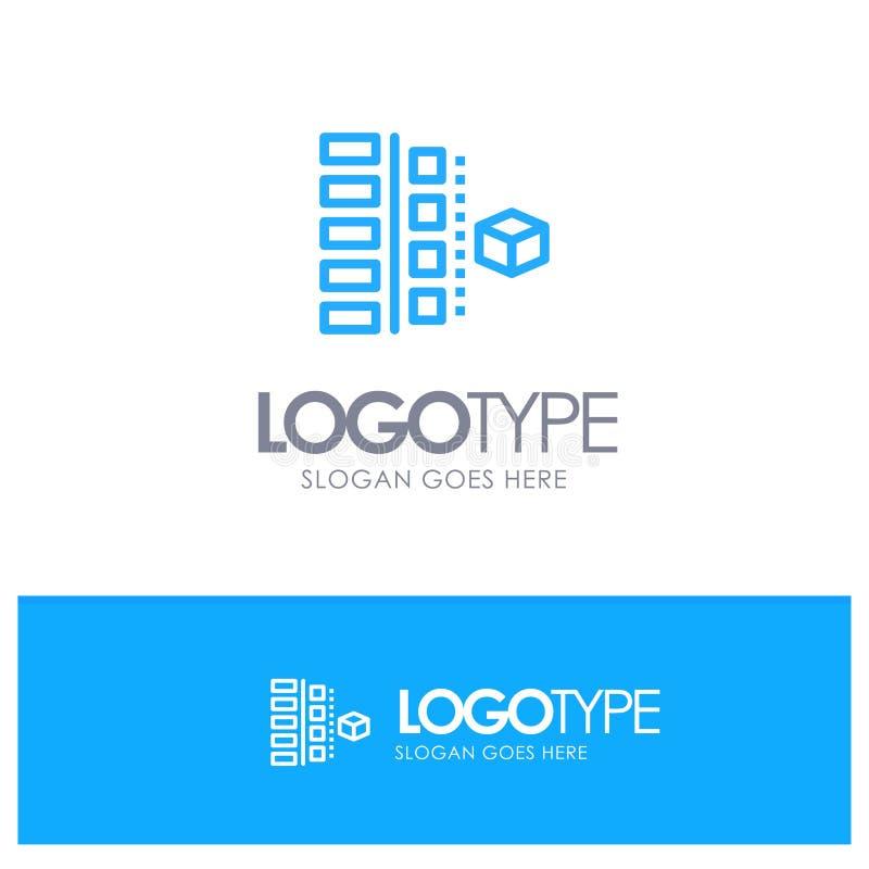 Развитие, участки, план, планирование, логотип плана продукта голубой с местом для слогана иллюстрация вектора