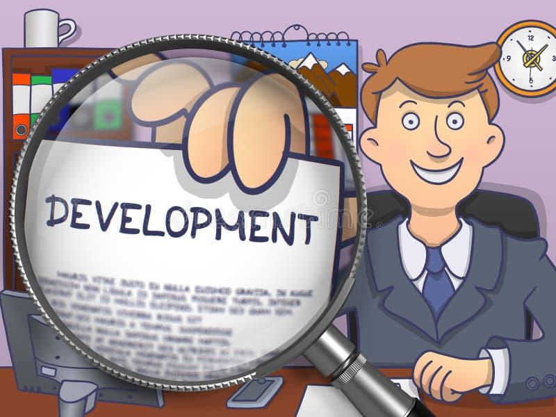 Развитие через объектив Дизайн Doodle бесплатная иллюстрация