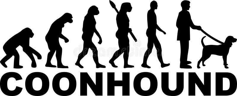 Развитие Coonhound бесплатная иллюстрация