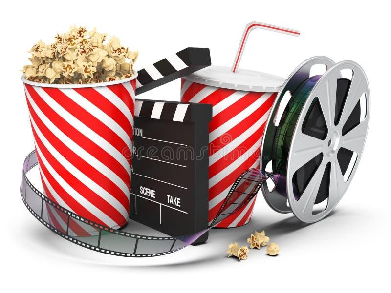Развлечения и закуски кино стоковое изображение
