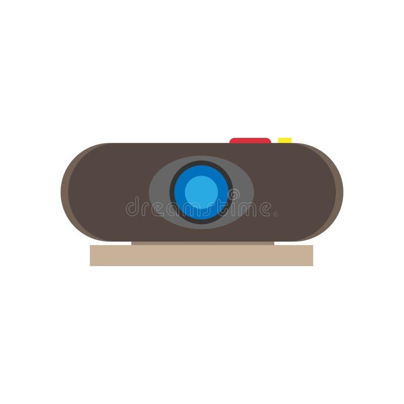 Развлечения технологии конференции видео- репроектора цифровые Плоский значок вектора иллюстрация вектора