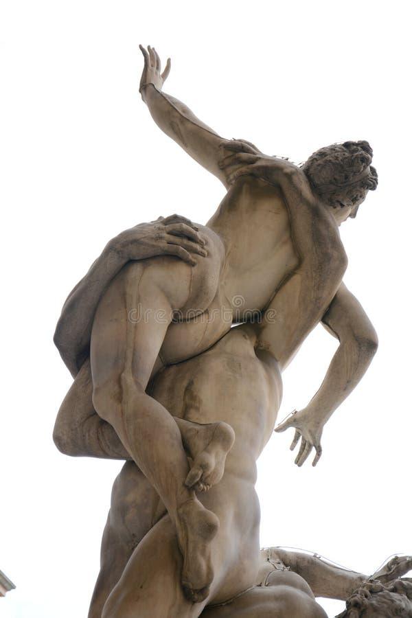 Разграбление скульптуры женщины Сабина, Флоренс стоковое изображение rf