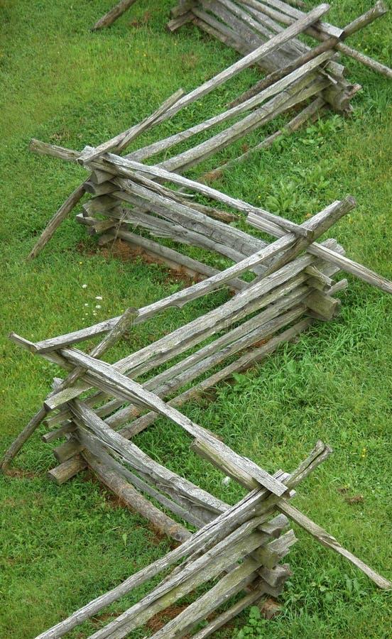 разделение рельса загородки стоковое фото