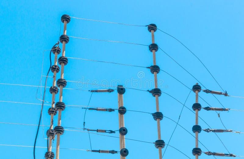 Разделительная стена установленная стеной высоковольтная электрическая Instalation стоковая фотография