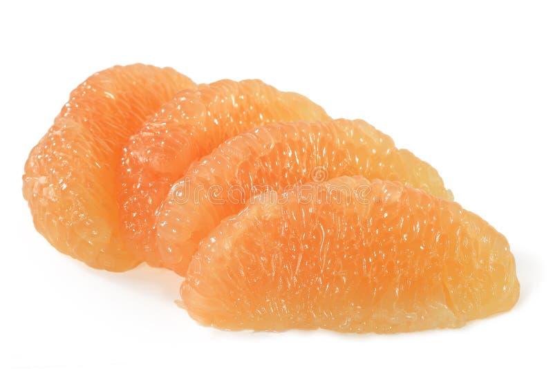 разделы грейпфрута стоковые фото