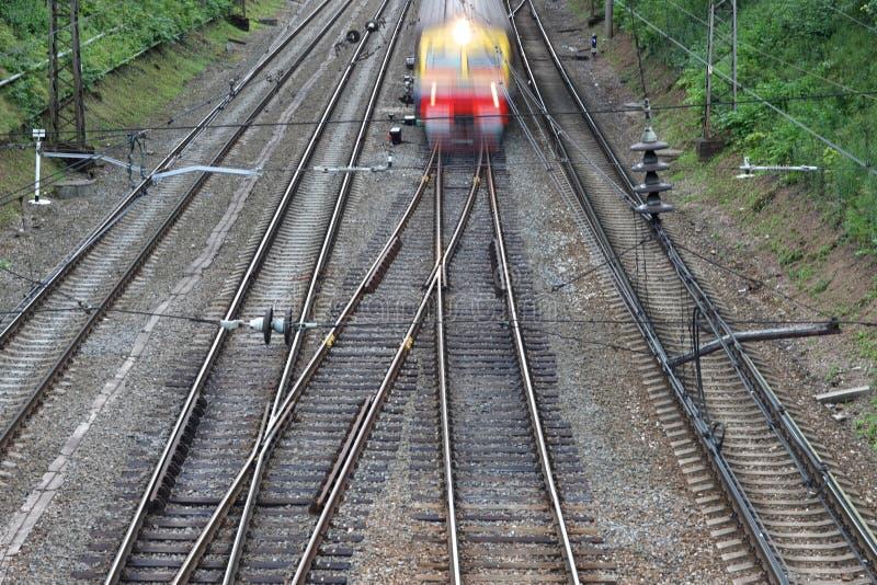 Раздел electrified железной дороги стоковое фото rf