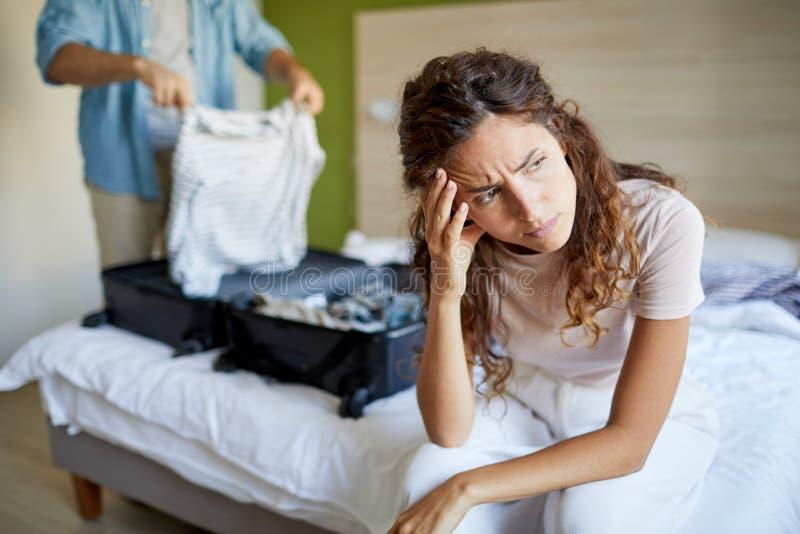 Раздражанная жена стоковые изображения