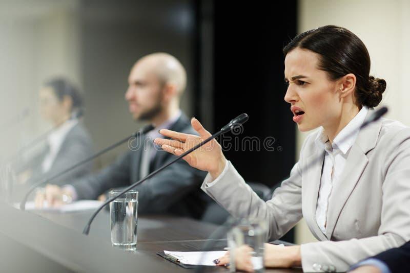 Раздражанный делегат стоковое фото rf