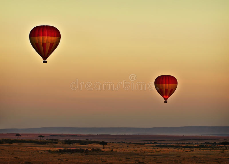 раздувает восход солнца Кении стоковое изображение rf